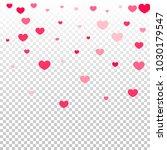 pink hearts random falling on... | Shutterstock .eps vector #1030179547