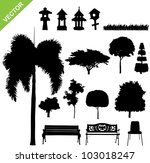set of silhouette tree and... | Shutterstock .eps vector #103018247