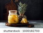 fermented mexican pineapple... | Shutterstock . vector #1030182703