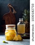 fermented mexican pineapple... | Shutterstock . vector #1030182733
