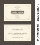 luxury business card and... | Shutterstock .eps vector #1030188643