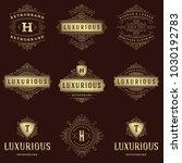 luxury logos templates set ...   Shutterstock .eps vector #1030192783
