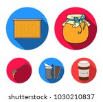 a frame with honeycombs  a... | Shutterstock .eps vector #1030210837