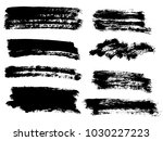 vector black paint  ink brush... | Shutterstock .eps vector #1030227223