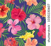 tropical seamless pattern with... | Shutterstock .eps vector #1030230607