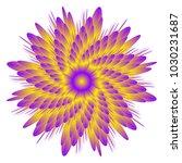 vector flower design  isolated  ... | Shutterstock .eps vector #1030231687