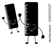 pair school ruler comic... | Shutterstock .eps vector #1030235107