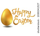 happy easter lettering card... | Shutterstock .eps vector #1030241527