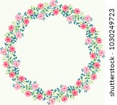 floral round frames from cute...   Shutterstock . vector #1030249723