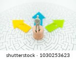 miniature people  businessman... | Shutterstock . vector #1030253623