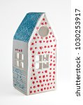 pottery house toy isolated on a ...   Shutterstock . vector #1030253917