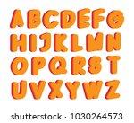 colorful alphabet illustration | Shutterstock .eps vector #1030264573