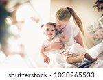 mommy love me so much. little... | Shutterstock . vector #1030265533