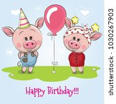 greeting birthday card with... | Shutterstock .eps vector #1030267903