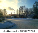 a winter industrial scene | Shutterstock . vector #1030276243