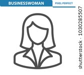 businesswoman icon.... | Shutterstock .eps vector #1030285507