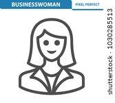 businesswoman icon.... | Shutterstock .eps vector #1030285513