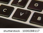 v keyboard key button press... | Shutterstock . vector #1030288117