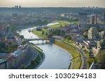 vilnius sep 16  aerial view of... | Shutterstock . vector #1030294183