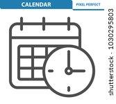 calendar icon. professional ... | Shutterstock .eps vector #1030295803