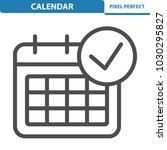 calendar icon. professional ... | Shutterstock .eps vector #1030295827