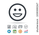 happy smile icon. smiley laugh... | Shutterstock .eps vector #1030300267