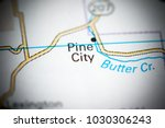 pine city. oregon. usa on a map. | Shutterstock . vector #1030306243