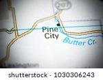 pine city. oregon. usa on a map. | Shutterstock . vector #1030306243