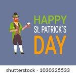 happy st. patricks day card...   Shutterstock .eps vector #1030325533