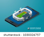 soccer football stadium on... | Shutterstock .eps vector #1030326757