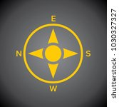 yellow compass icon on black... | Shutterstock .eps vector #1030327327