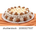 stuffed cake with cream and... | Shutterstock . vector #1030327537