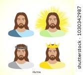 vector illustration of jesus...   Shutterstock .eps vector #1030342987