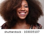 Small photo of Funky afro lady