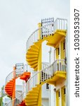 spiral staircases   bugis... | Shutterstock . vector #1030353307
