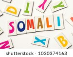 word somali made of colorful... | Shutterstock . vector #1030374163