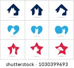 dog logos set design  pet and... | Shutterstock .eps vector #1030399693