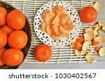 Peeled Tangerines On A Plate...
