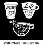 quote coffee typography set.... | Shutterstock .eps vector #1030406587
