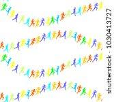 man   woman running. set of... | Shutterstock .eps vector #1030413727