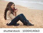 beautiful brunette woman...   Shutterstock . vector #1030414063