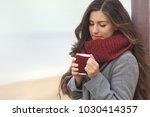beautiful woman with long hair...   Shutterstock . vector #1030414357