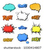 oops and boom  bang and boom... | Shutterstock .eps vector #1030414807