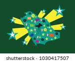 cinema and entertainment... | Shutterstock .eps vector #1030417507