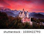neuschwanstein fairy tale... | Shutterstock . vector #1030422793