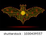abstract bat in the form of an... | Shutterstock .eps vector #1030439557