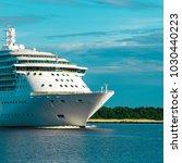 luxury cruise liner underway....   Shutterstock . vector #1030440223