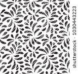 modern floral seamless vector... | Shutterstock .eps vector #1030443223