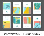 set of creative universal... | Shutterstock .eps vector #1030443337