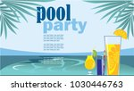 pool party  horizontal images ... | Shutterstock .eps vector #1030446763